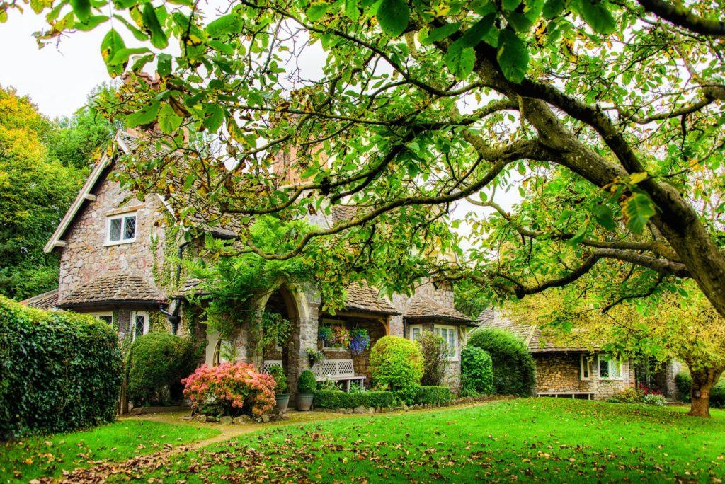 A quaint English cottage in Autumn