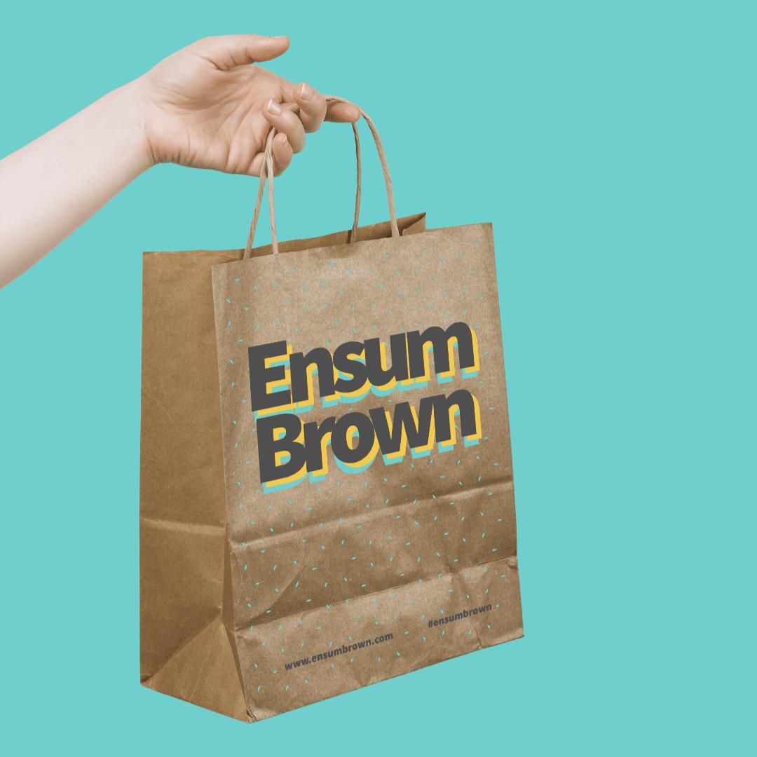 EEnsum Brown Shopping Bag